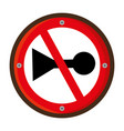 do not whistle traffic signal vector image