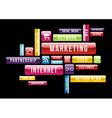 Internet Marketing cloud text concept vector image