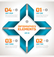 infographics geometric template vector image