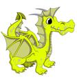 yellow dragon cartoon vector image vector image