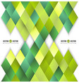 abstract background of yellow and green diamonds vector image