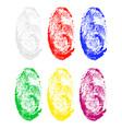 fingerprint 03 vector image