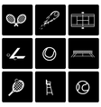 black tennis icon set vector image vector image