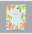 Tropical Floral Colorful Frame - for Invitation vector image