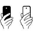 Taking selfie photo on smartphone vector image vector image