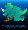 Triceratops cute character dinosaurs vector image