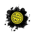 Black Friday Sale blot icon White background vector image