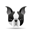 french bulldog face icon design vector image