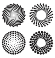 Halftone circles of dots vector image