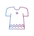 line fashion clothes with beauty style vector image