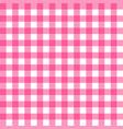 picnic table cloth seamless pattern pink picnic vector image