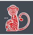 tribal monkey New year calendar vector image