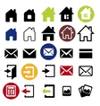Web icons set - house letter vector image