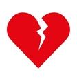 broken heart love vector image