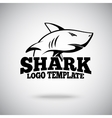 logo template with Shark for sport teams vector image
