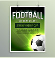 football sports championship game flyer template vector image
