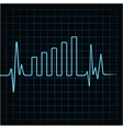 Heartbeat make business graph vector image