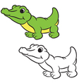krokodile coloring book vector image vector image
