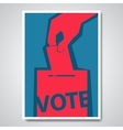 vote election cover design vector image