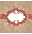Red and Gold Paisley Square Envelope vector image