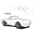 Classic car vector image vector image