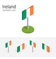 ireland flag set of 3d isometric icons vector image