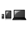 Phone tablet laptop vector image