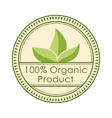 Round eco badge green stamp label of healthy vector image
