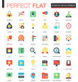 set of flat startup and development icons vector image