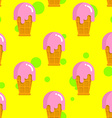 Vanilla ice cream seamless pattern Cold milk pink vector image