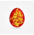 Easter eggs design template vector image vector image