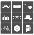 Hipster Icons vector image
