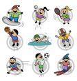 cartoon kids vector image