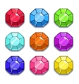 Funny cartoon colorful gems set vector image