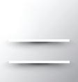 shelf on white background 2503 vector image vector image