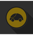 dark gray and yellow icon - car vector image