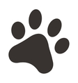 Black footprints of dogs foot silhouette vector image