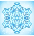Blue abstract doodle floral circle pattern vector image