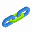 Chain link isometric 3d icon vector image