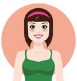 Flat girl vector image