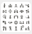 Management and Business icons set vector image
