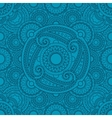 Mystical blue pattern with mandalas vector image