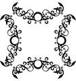 Ornament black 71 vector image
