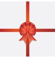 Red Ribbon Bow vector image