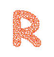 letter r made of valentines vector image
