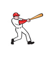 Baseball Player Batting Isolated Cartoon vector image vector image