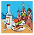 Russian vodka vector image vector image