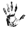 handprint 01 vector image vector image