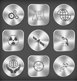 gears chemical test tubes shift globe radiation vector image vector image