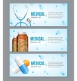 Medical Banner Horizontal Set vector image